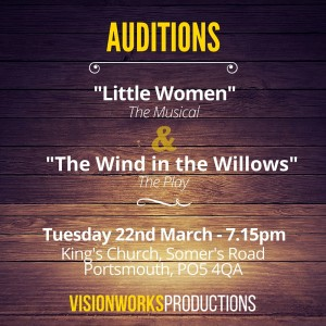 Auditions for Little Women and The Wind in the Willows
